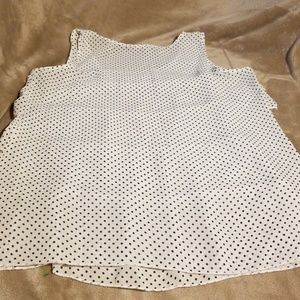 Lilly Lou Tops - LILLY LOU BLACK AND WHITE POLKA DOT TANK TOP